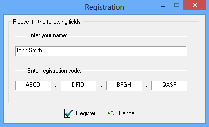 Keylogger Detector registration example